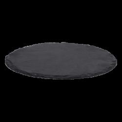 Schieferplatten rund ø 9 cm Set 4-tlg. - FLOW Slate