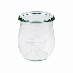 Miniglas Tulpe 2.2 dl, H:8 mm, ø 70 mm - Weck Glas ohne Deckel