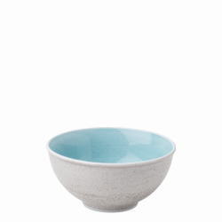 Bowl 16 cm, 750 ml azul / sand glasur aussen - Elements Hotelporzellan color