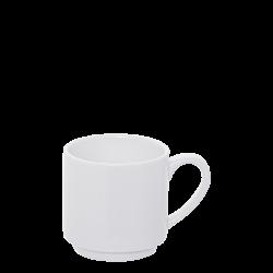 Espresso-Obere stapelbar, 0.10 lt. - Lunasol Hotelporzellan uni weiss