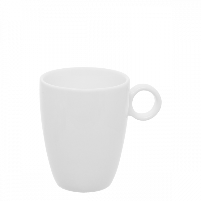 Kaffee-Obere 0.20 lt hoch - RGB weiss gloss Lunasol