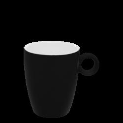 Kaffee-Obere 0.20 lt hoch - RGB schwarz gloss Lunasol