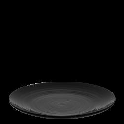 Teller flach Coupe 280mm Spiral - Gaya RGB schwarz gloss Lunasol