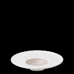 Teller tief Fahne 23.5 cm rocca / weiss aussen - Gaya Atelier Perforated color