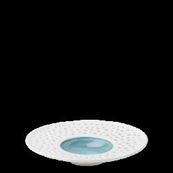 Teller tief Fahne 23.5 cm azul / weiss aussen - Gaya Atelier Perforated color