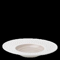 Gourmetteller tief 30 cm rocca / weiss aussen - Gaya Atelier Perforated color