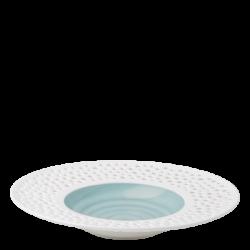 Gourmetteller tief 30 cm azul / weiss aussen - Gaya Atelier Perforated color