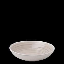 Teller tief 23.5 cm Coupe Spiral rocca / sand glasur aussen - Gaya Atelier color