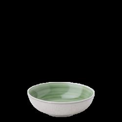 Teller tief Coupe / Bowl 18 cm olive /sand glasur aussen - Elements Wood color