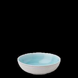 Teller tief Coupe / Bowl 18 cm azul / sand glasur aussen - Elements Water color