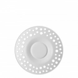 Kaffee-/Tee Untere 15 cm - FLOW Perforated weiss