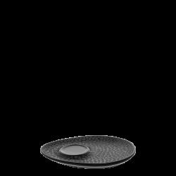 Mocca Untere Triangle - FLOW Raised Structur schwarz / grau
