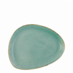 Platte oval 25.5 cm Triangle - Gaya Sand türkis Lunasol