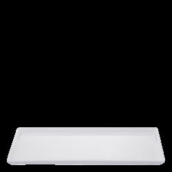 Platte rechteckig 35.5 x 21 cm - Buffet Lunasol uni weiss