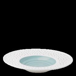 Grand Hotel Flow Perforated color - Gourmetteller tief 30 cm azul / weiss aussen