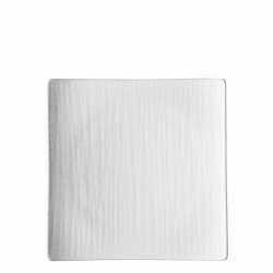 Teller flach quadratisch 22cm - Rosenthal Mesh weiss
