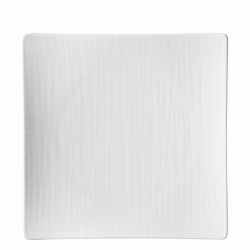 Teller flach quadratisch 27cm - Rosenthal Mesh weiss