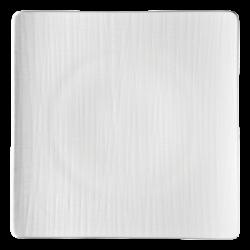 Teller flach quadratisch 31cm - Rosenthal Mesh weiss