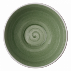 Bowl 16 cm, 750 ml olive /sand glasur aussen - Elements Hotelporzellan color