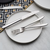 Elegant yet practical, versatile Turin perfectly complements both modern and traditional table settings. . #sola #solawitzerland #cutlery #cutlerydesign #tableware #kitchenware #silverware #kitchen